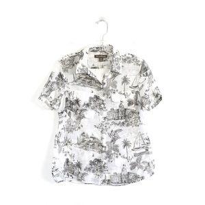 Tommy Bahama light cotton resort shirt printed S